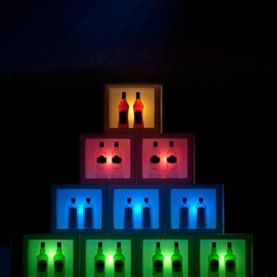 OPENCUBE Leuchtregal mit Akku / LED