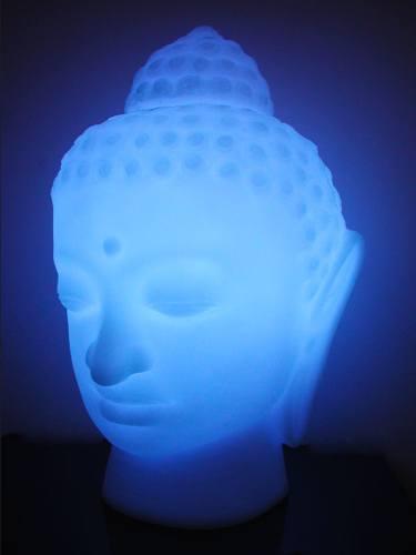BUDDHA LEUCHTFIGUR weiß RGB LED Indoor und Akku