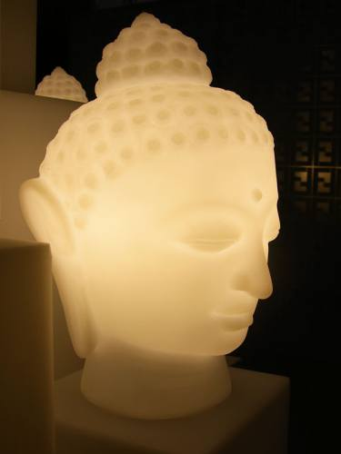 BUDDHA Leuchtfigur mit Akku / LED