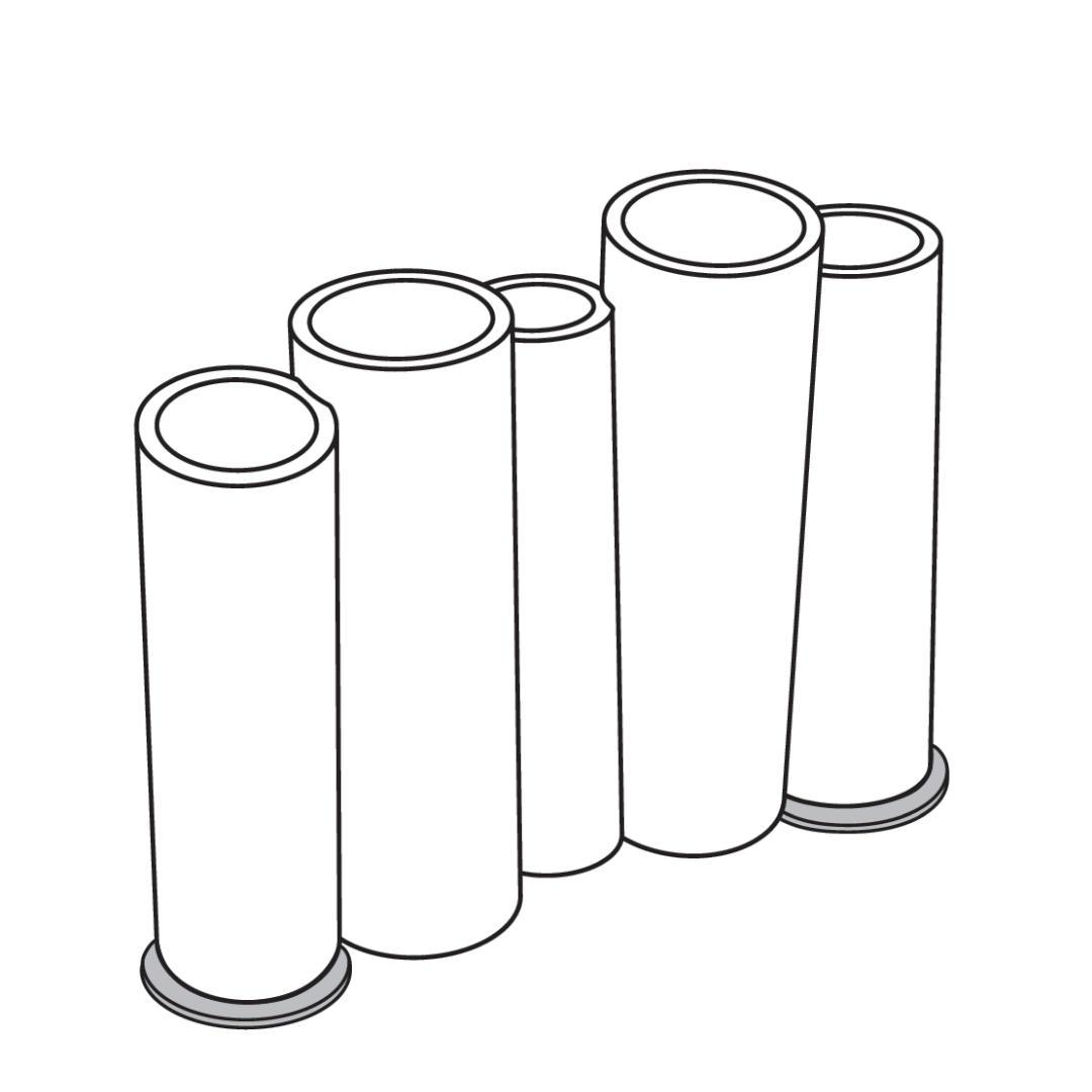 Stabilisierung für BAMBOO, 2er Set Stahl galvanisiert, Outdoor