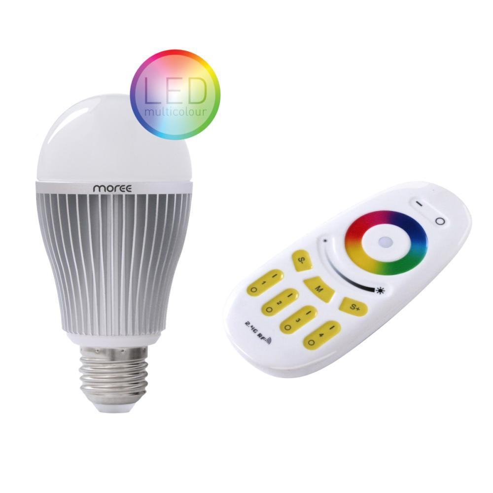 LED RGBW Leuchtmittel mit Funk-Fernbedienung