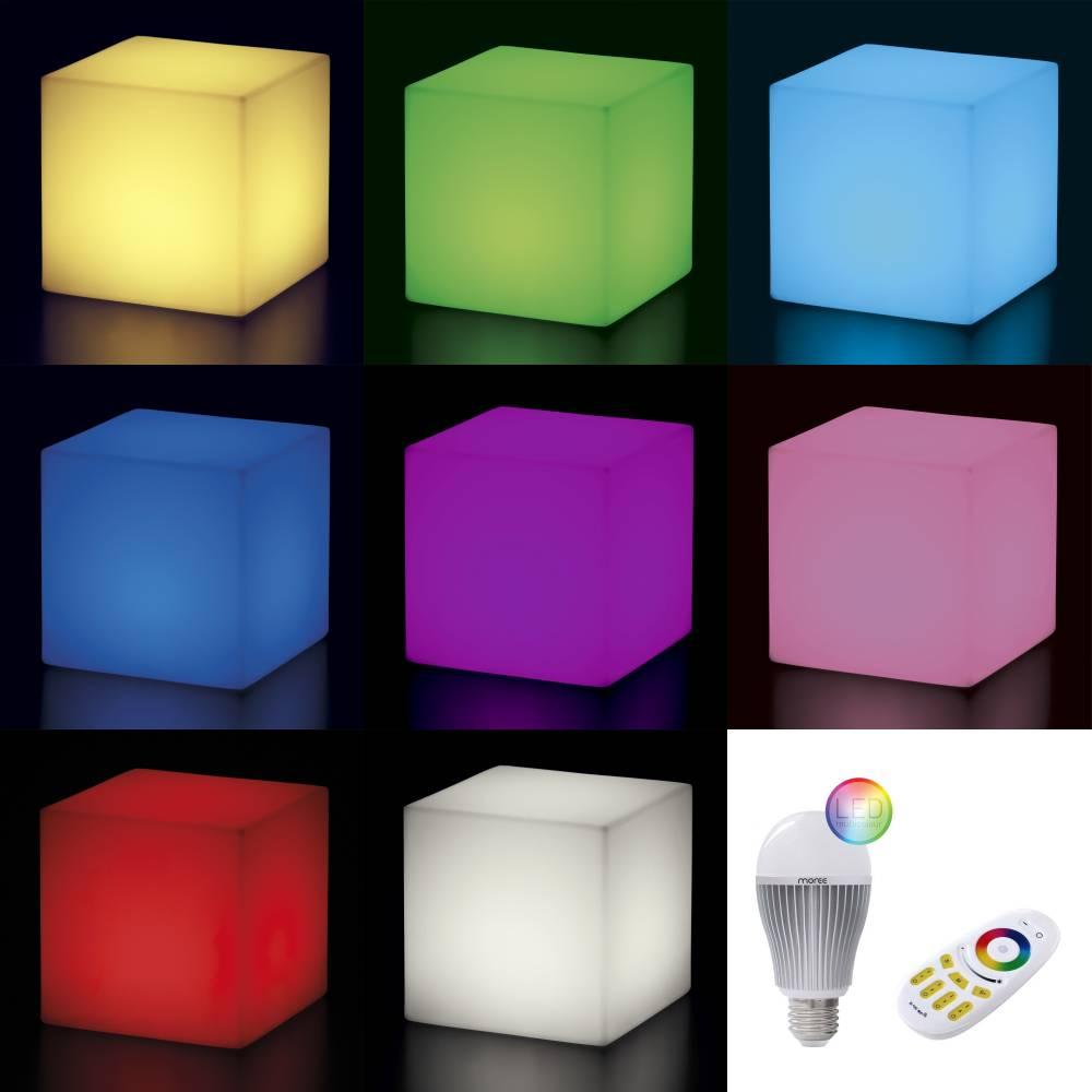 cubo leuchtwürfel mit led und funk von slide design