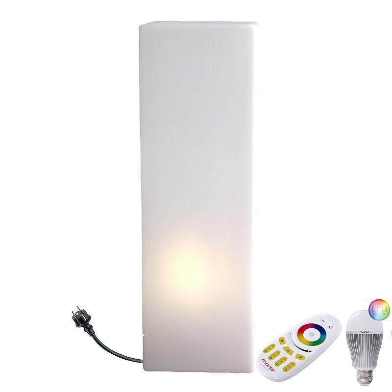 IO Leuchtsäule Outdoor mit LED Beleuchtung und Funk-Fernbedienung