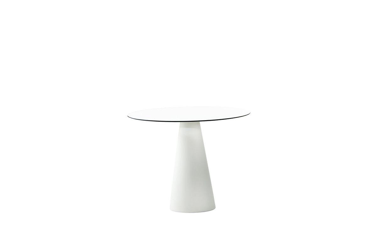 HOPLÀ Esstisch mit/ohne Beleuchtung, Platte HPL 79 cm