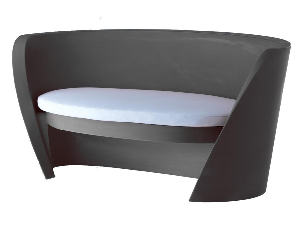 RAP Sofa / Sitzbank elephant grey, mit Sitzkissen hellgrau