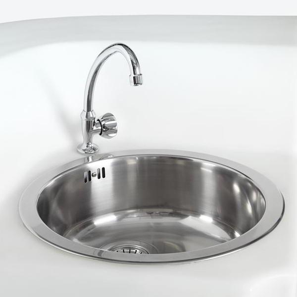 Spülbecken inkl. Wasserhahn für Eckelement BREAK CORNER