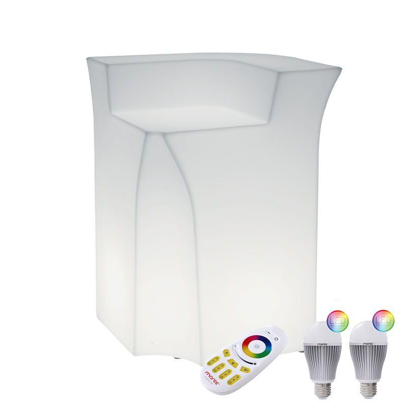 JUMBO CORNER Eckelement mit LED-Birnen Beleuchtung, Funk-Fernbedienung