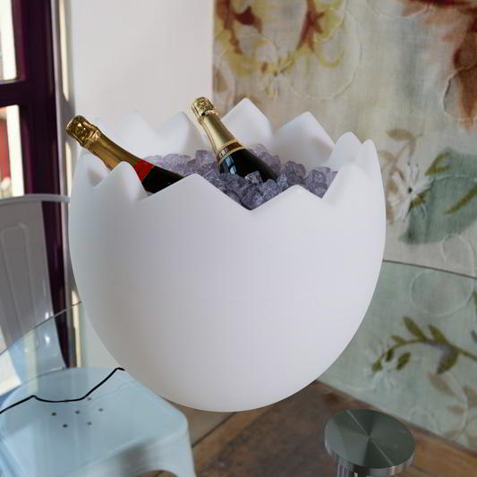 KALIMERA Flaschenkühler als Ei mit Akku