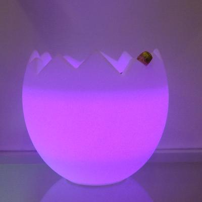 KALIMERA Flaschenkühler als Ei LED violett