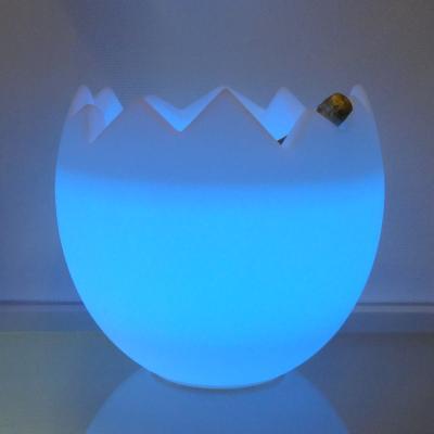 KALIMERA Flaschenkühler als Ei LED blau
