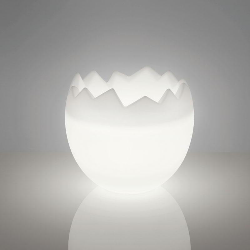 KALIMERA Flaschenkühler als Ei LED weiss