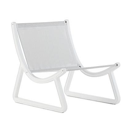 DREAM LINE Gartensessel weiß / Polyester grau