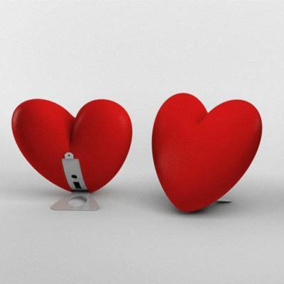LOVE Tischleuchte beleuchtetes Herz mit Tischfuß