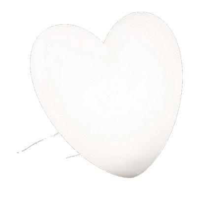 LOVE Tischleuchte beleuchtetes Herz weiß
