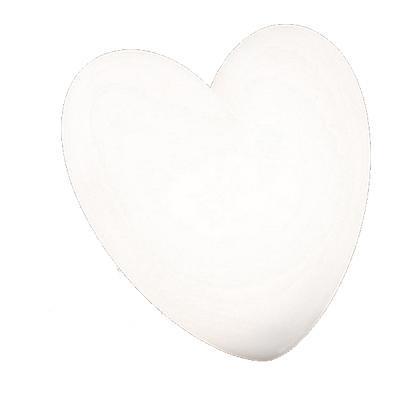 LOVE Wandleuchte Herz weiß
