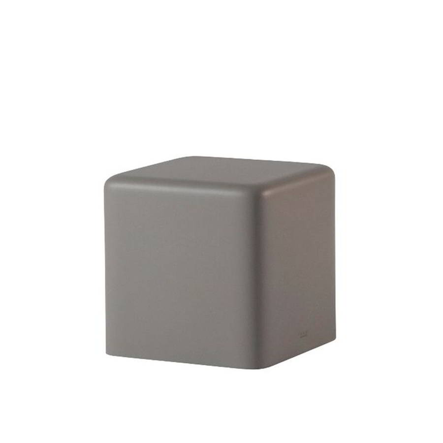 SOFT CUBO Hocker 43 cm, soft argil / grau