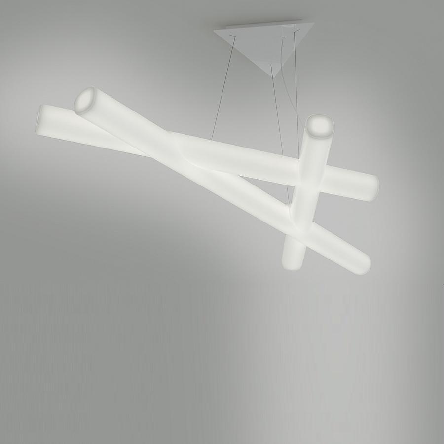 MESH Pendelleuchte 162 cm, kaltweiß
