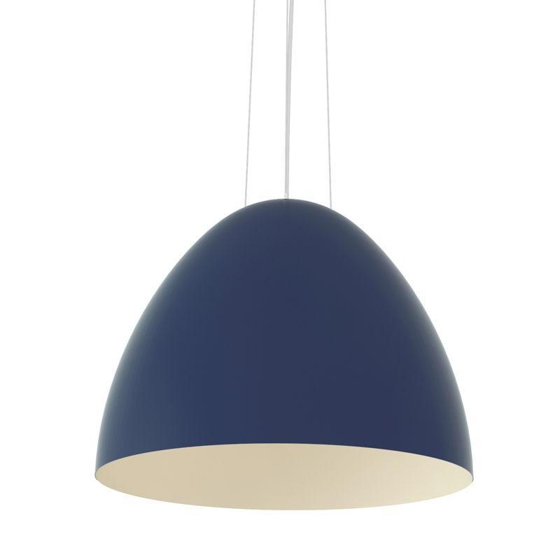 PLUME Pendelleuchte 117 cm, RAL 5003 saphierblau matt