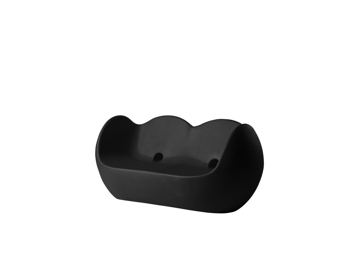 BLOSSY Sofa jet black