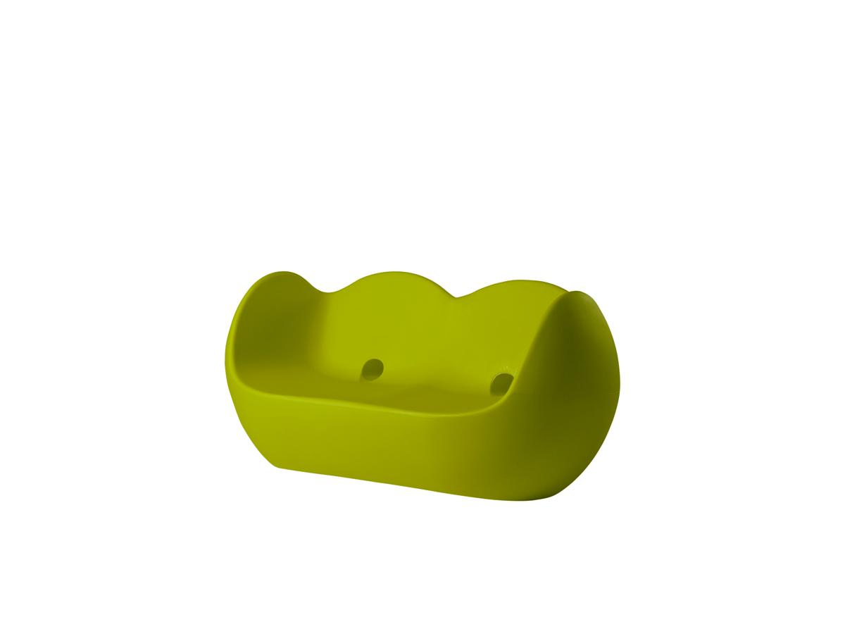 BLOSSY Sofa lime green