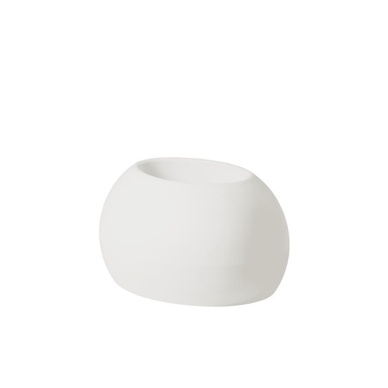 BLOS POT Blumentopf milky white