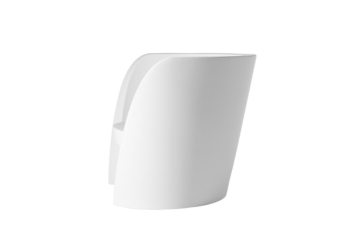 RAP Sessel milky white, Seitenansicht