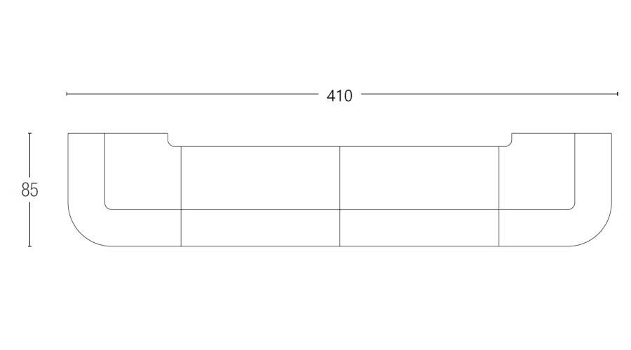 BREAK LINE Bar 410 cm, Vermassung