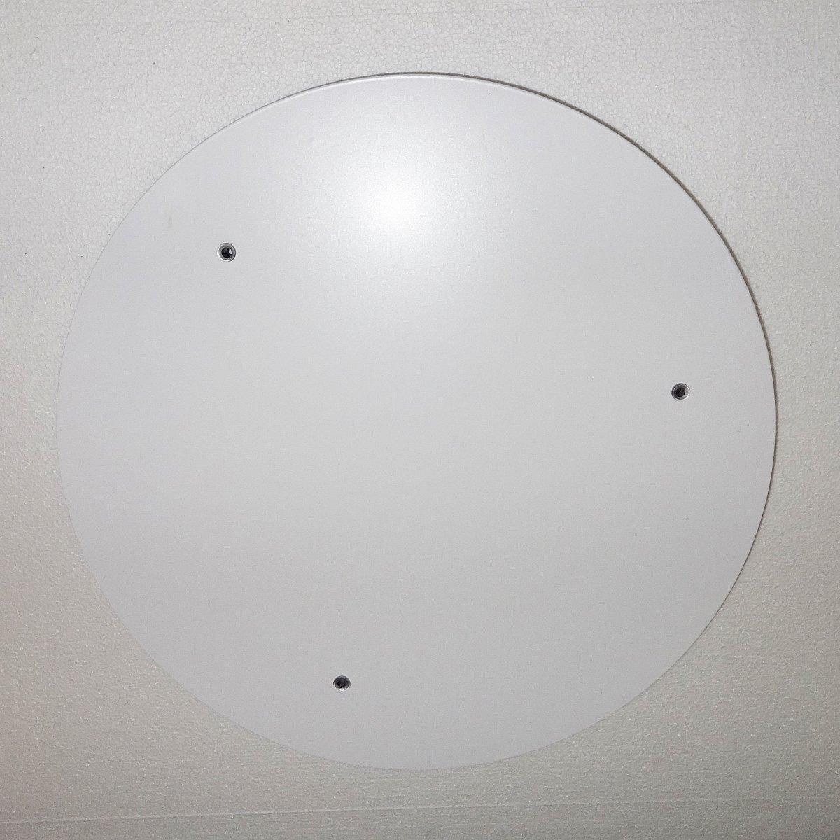 TRIPLE Baldachin 47 cm für 3 Leuchten, Metall weiß