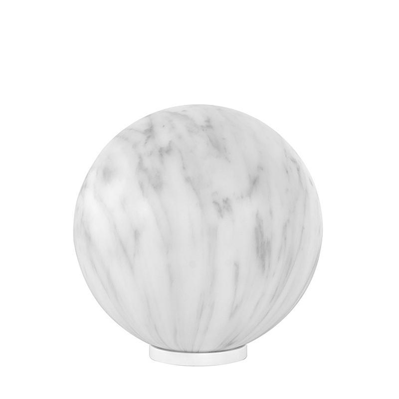 MINERAL Tischleuchte 40 cm marmoriert grau
