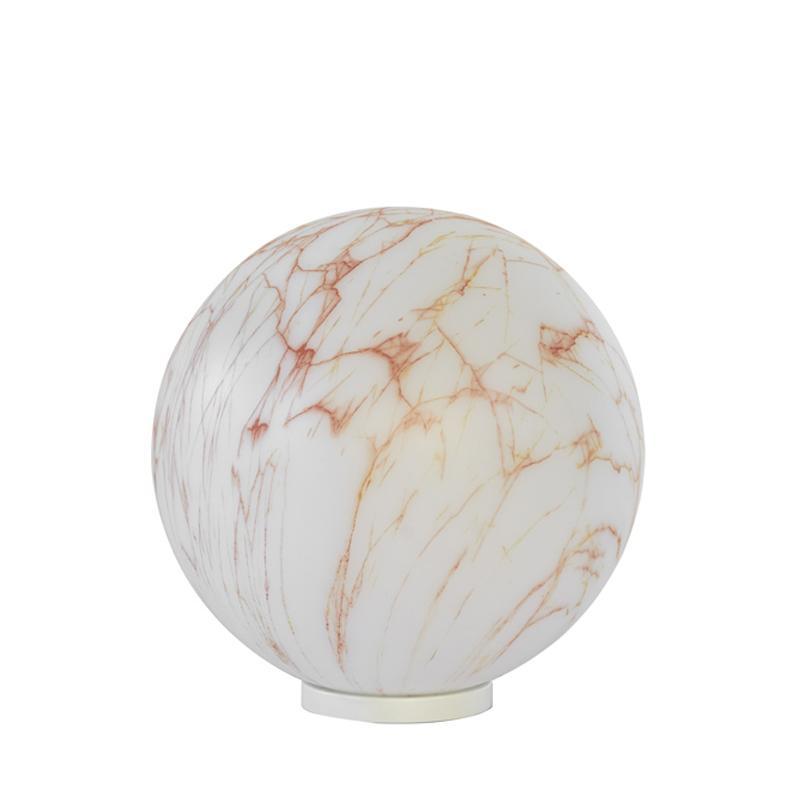 MINERAL Tischleuchte 40 cm marmoriert rot