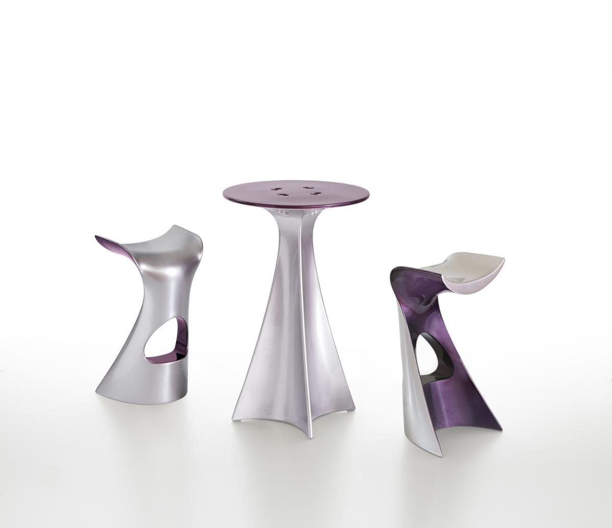 NEXT Collection KONCORD Barhocker mit JET Stehtisch, silber und violett