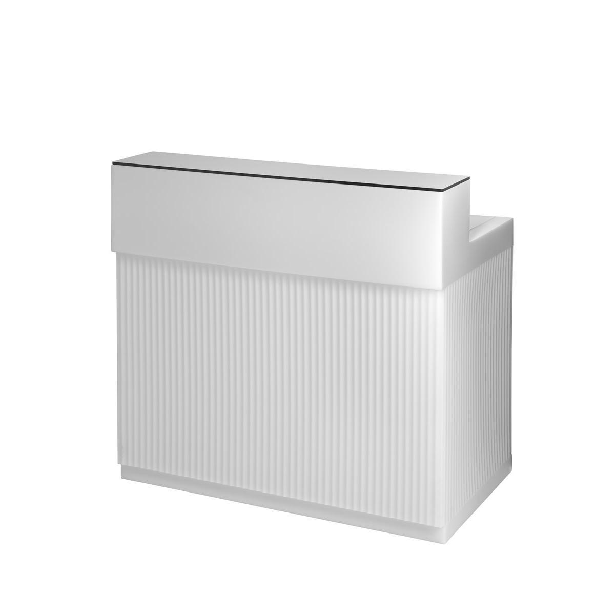 CORDIALE Bar beleuchtet, komplett weiß mit HPL-Platte weiss