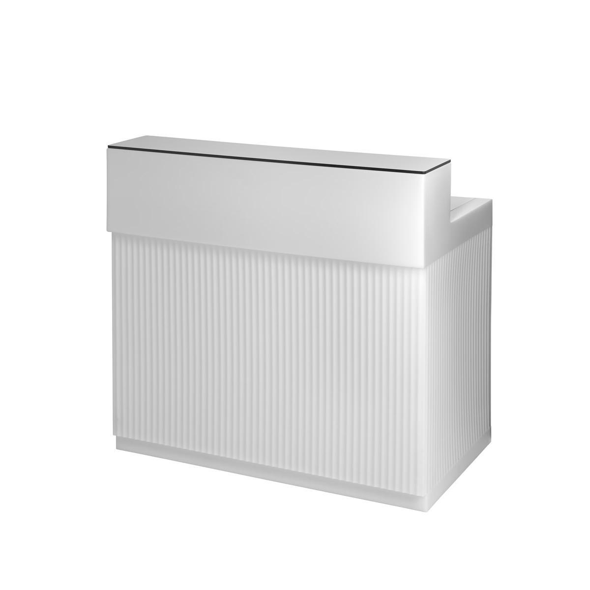 CORDIALE Counter Bar in weiß mit TOP Ablage in HPL weiß