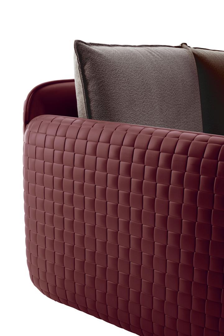 MARA Gartensessel mahagony leather im Detail