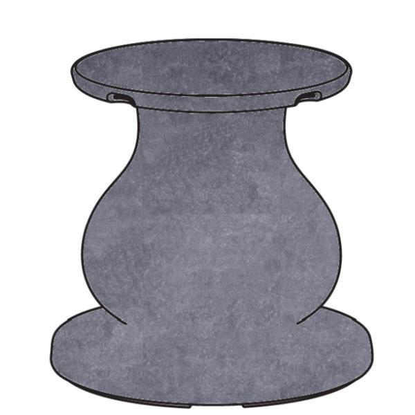 OTTOCENTO Fuß groß, Ausführung granito (Granit-Optik), Computerbild