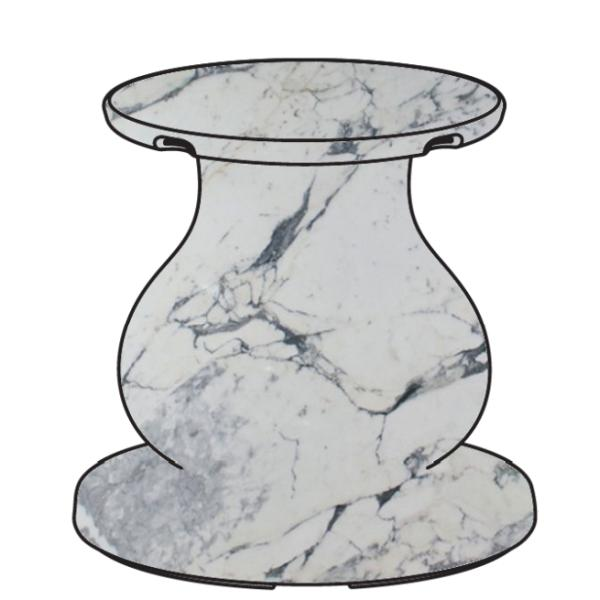 OTTOCENTO Fuß groß, Ausführung arabescato (marmoriert), Computerbild