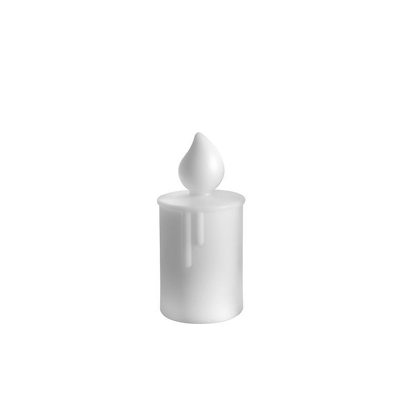 FIAMMETTA Tischleuchte Kerze 22,5 cm weiß