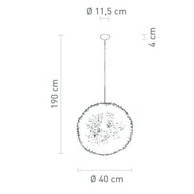 Pendelleuchte Kaktus Ø 40 cm Alu Drahtgeflecht