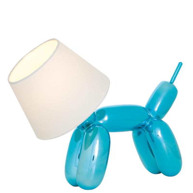 DOGGY Tischleuchte blau-metallic