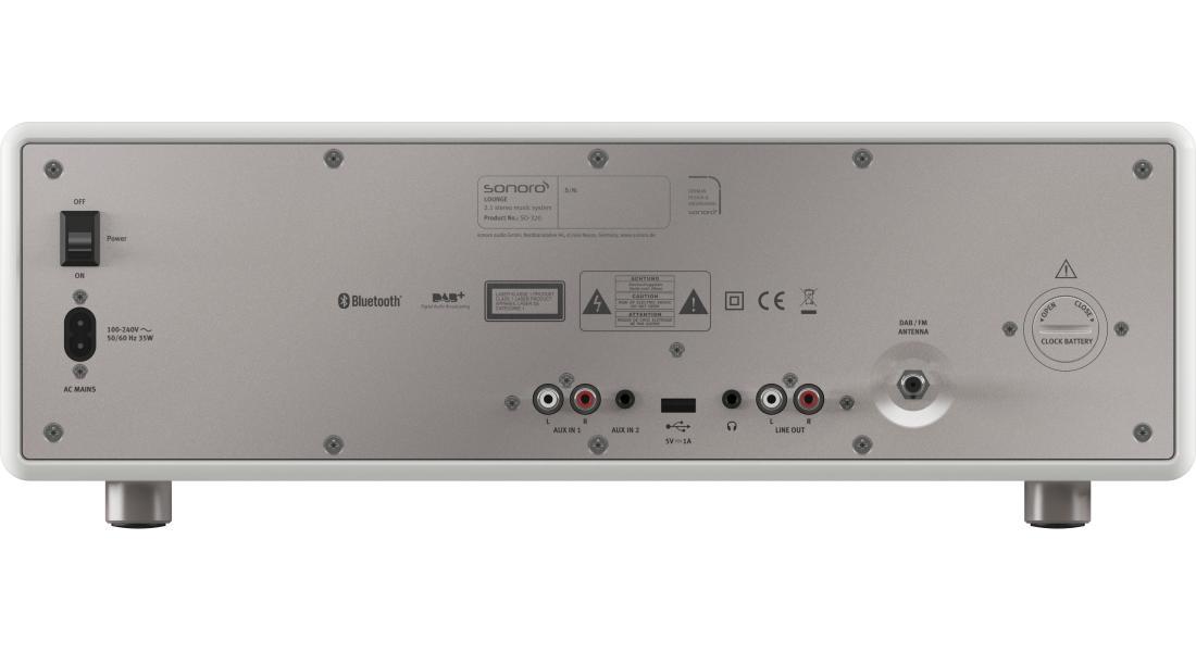 Die Anschlüße vom sonoro LOUNGE Musiksystem