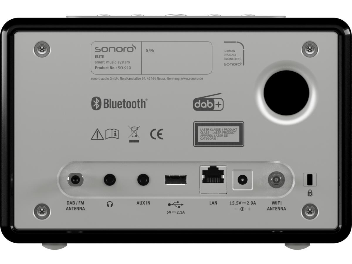 ELITE Audiosystem von sonoro, schwarz