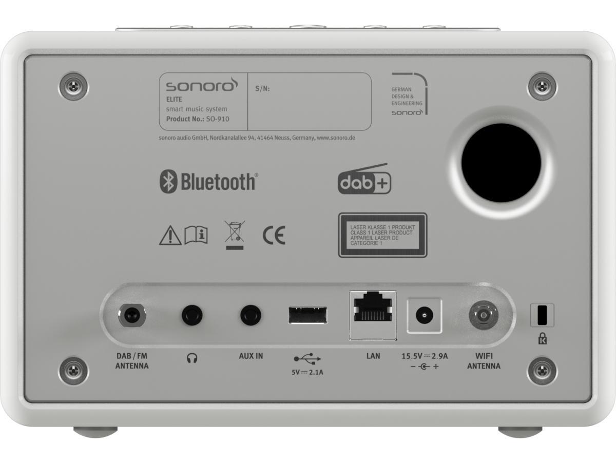 ELITE Audiosystem von sonoro, weiß