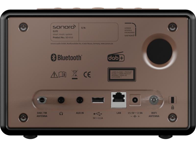 sonoro Elite Audiosystem  mattschwarz / Front kupfer