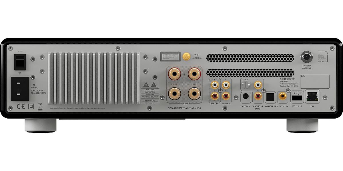 sonoro Maestro Audiosystem schwarz