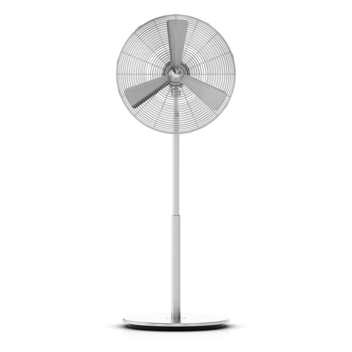Stand-Ventilator CHARLY nicht oszilierend, verchromt