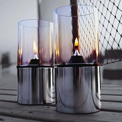 Classic Öllampe mit Glasschirm