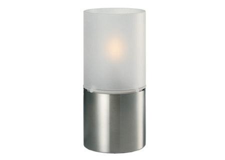 Öllampe Classic mit Glasschirm satiniert, 18 x 8,5 cm