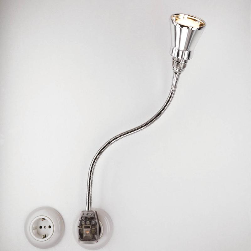 Glühwürmchen DeLuxe Steckerleuchte LED Kegel glanzeloxiert
