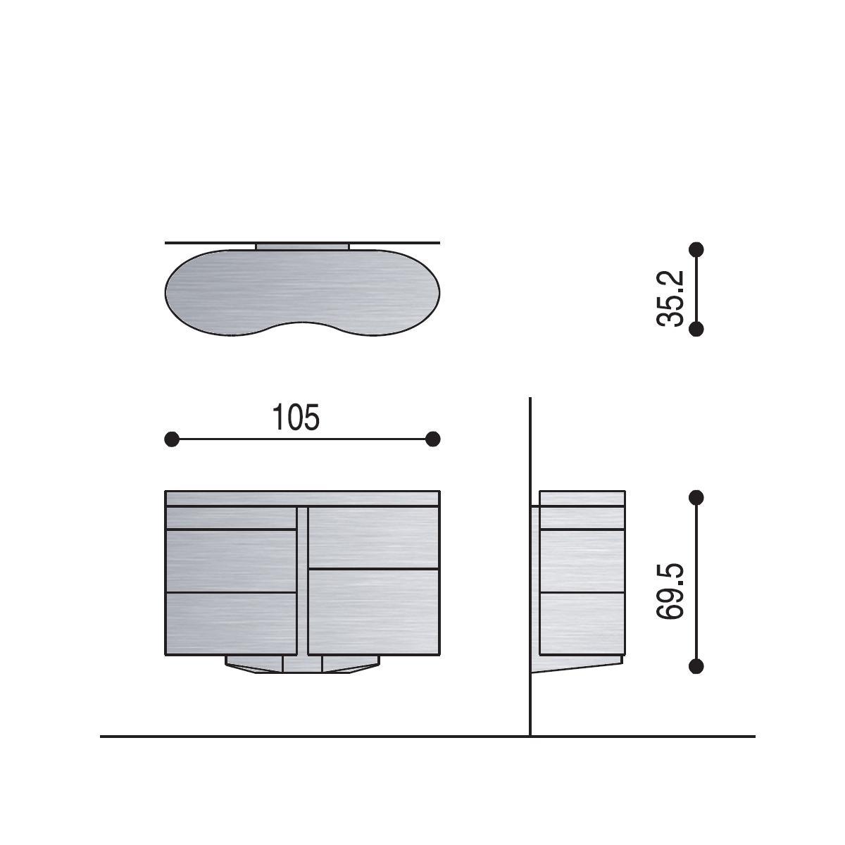 BITTE TWINS Wandkonsole, technische Details