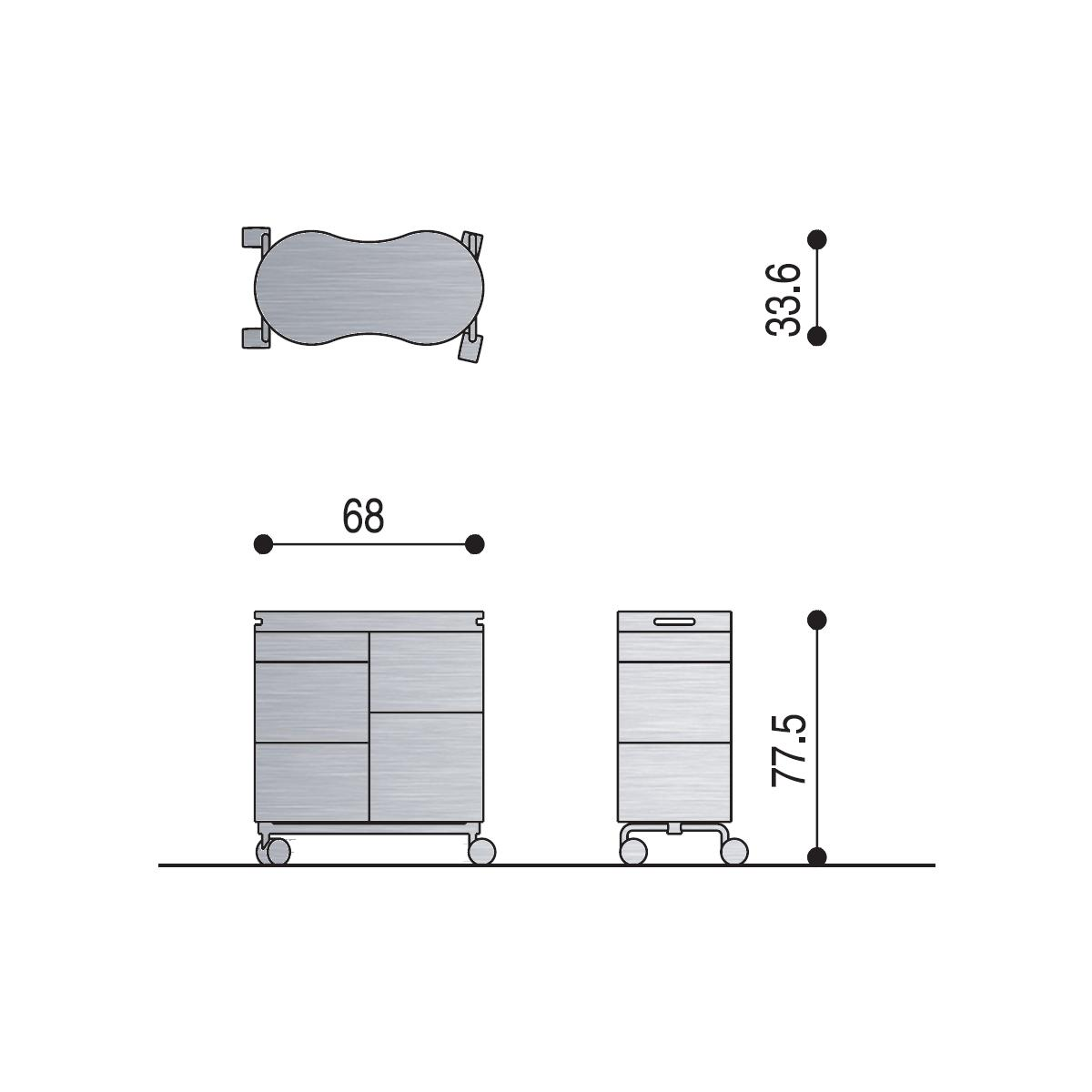 BITTE ROLL Rollcontainer technische Details